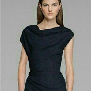 Helmet Lang symmetric black dress